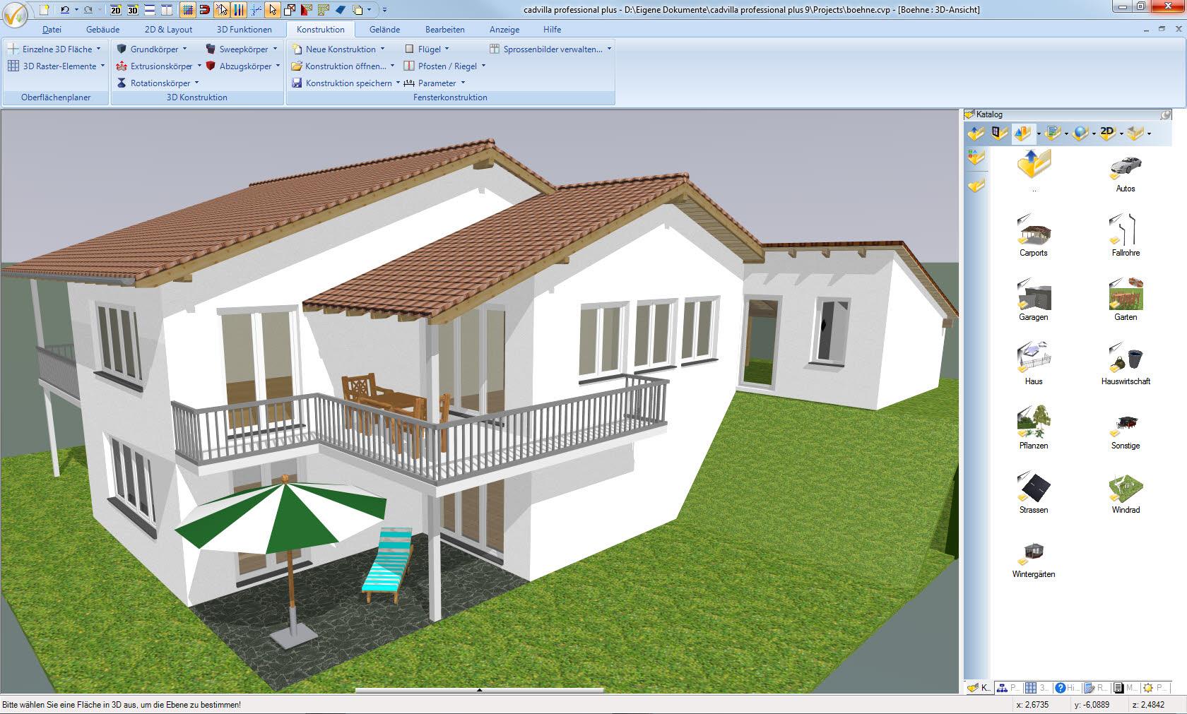 Darstellung des gesamten Projekts in einer 3D Ansicht