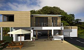 Beispiel aus cadvilla - Haus mit Flachdach