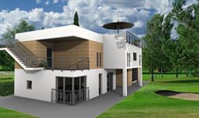 Beispiel aus cadvilla - Modernes Haus mit Flachdach