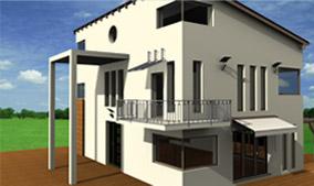 Beispiel aus cadvilla - Haus mit Pultdach