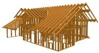 Holzhaus mit Holzrahmenbau