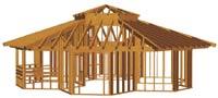 Fassadengestaltung eines Holzhauses