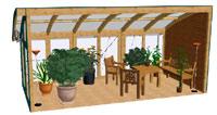 Wintergarten in 3D