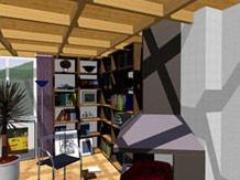Visualisierung eines Zimmers